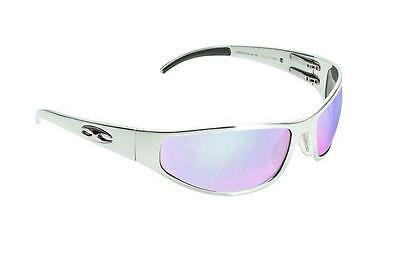 NEW ICICLES B-HD-02-C Bagger Flat HD Road Lens Mirror Sunglass with Silver Frame