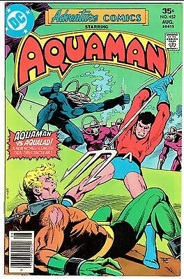 ADVENTURE COMICS #452 - AQUAMAN!  Black Manta Kills Aquababy!   VF- (7.5)   1977