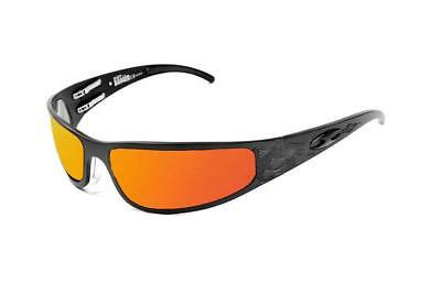 dda055ee537 NEW ICICLES Baby Bagger Orange Mirror Lens Sunglasses with Black Flames  Frame