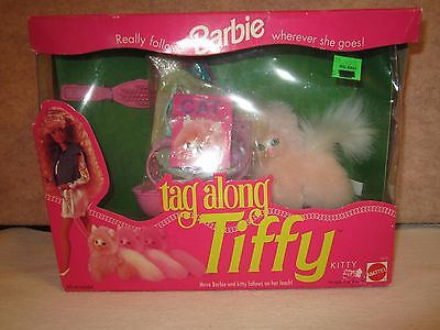 1992 Barbies Tag Along Tiffy Kitty Unopened
