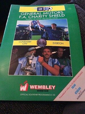 Coventry City v Everton 1987 Charity Shield Programme
