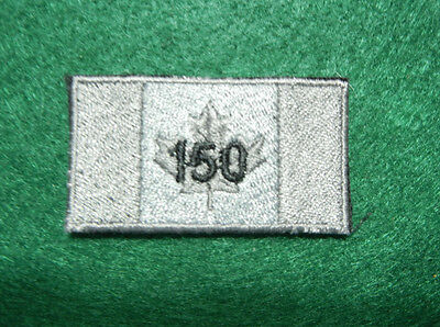 Canada '150' Tactical Grey Black Flag Patches