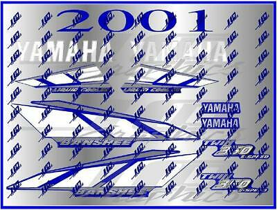 yamaha banshee full graphics decals kit 2001 ...