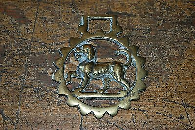 Vintage Brass Horse Harness Medallion Ornament Tack - Hunting Dog