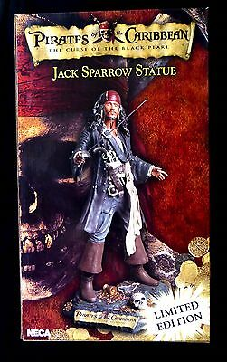 "Jack Sparrow Pirates of the Caribbean 18"" Resin Statue NECA 2006 Johnny Depp"