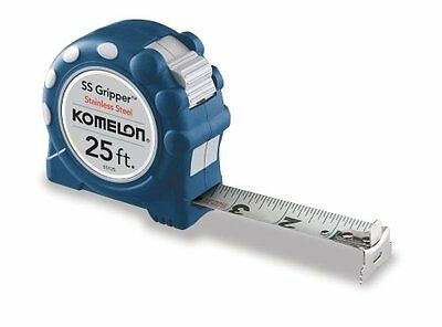 Komelon SS125 Gripper 25 ft. x 1 in. Stainless Steel Measuring Tape, NEW