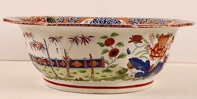 Antique Chinese bowl,large famille rose,rose medallion 1840,Chinese porcelain12""