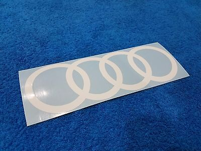 AUDI RINGS LOGO VINYL STICKER DECAL CAR WINDSHIELD QUATTRO POWER RS S LINE SPORT