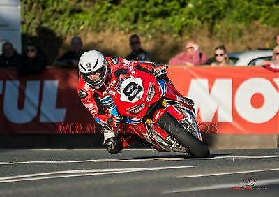 Guy Martin  2017Honda  Superbike Isle of Man TT A4 size photo