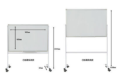 NEW 2 Sides Whiteboard 905 x 600mm Office Magnetic Marker Portable FREE GIFTS
