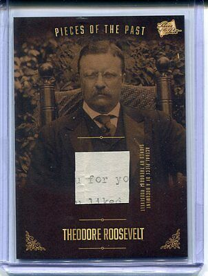 2017 The Bar Pieces of the Past Theodore Roosevelt Piece of Signed Document