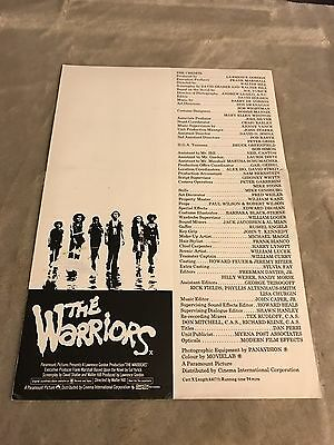 The Warriors Super Rare 1979 Play Bill Movie Mezco Only One On eBay