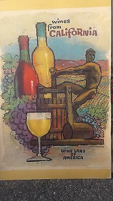 Vintage California Wine Poster Art by Amado Gonzalez