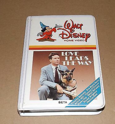 Disney's LOVE LEADS THE WAY beta betamax not vhs original white clamshell releas