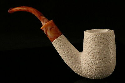 Oom Paul Pipe Hand Carved Block Meerschaum in a fitted CASE 8016