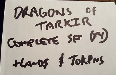 4x Dragons of Tarkir complete set x4 plus lands and tokens Magic the Gathering