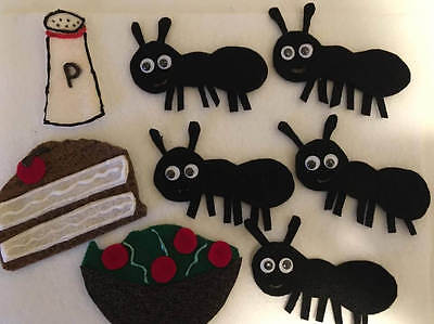 Five Hungry Ants - Children's Felt Flannel Board Story