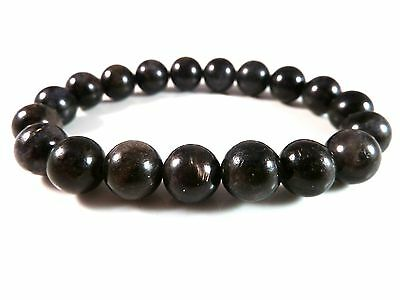 ARFVEDSONITE STRETCH BRACELET 10mm Gemstone Energy Healing Flash Astrophyllite