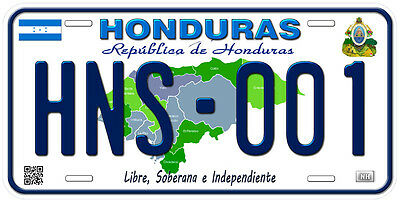 Honduras Aluminum Any Text Personalized Novelty Car License Plate