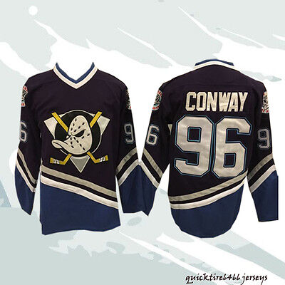 Charlie Conway The Mighty Ducks Movie #96 Purple Hockey Jersey Stitched