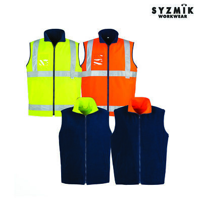 Mens Hi Vis Lightweight Fleece Lined Vest Zv358 Tradewear Workwear