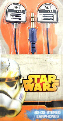 NEU STAR WARS R2-D2 OHRHÖRER In Ear Kopfhörer R2D2 Headphones Handy Audio Disney