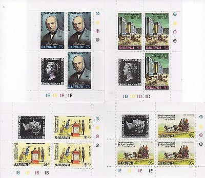 Anniversary Of Penny Black Sir Rowland Hill Set Of 4 Mnh Stamp Sheetlets