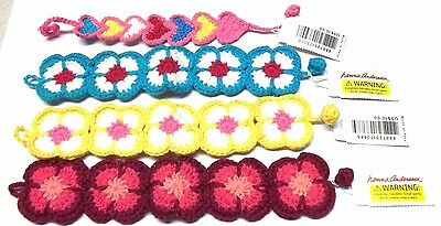 Girls Crochet Bracelet Jewlery HANNA ANDERSSON Your Choice of Color NEW with TAG