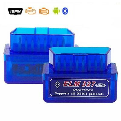 ELM327 Bluetooth V2.1 OBD2 Mini Elm 327 OBDII Car Diagnostic Scanner Can Bus