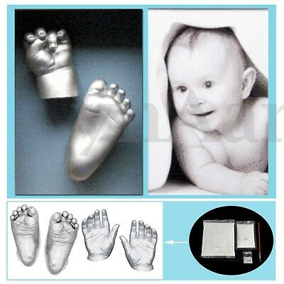 3D Plaster Handprint Footprint Baby Adult Hand Foot Casting Prints Kit Cast Gift