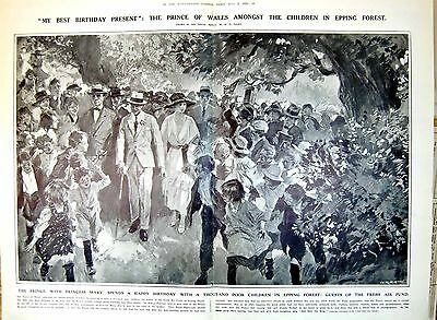 Prince Wales Children Epping Forest Princess Mary Fresh Air 1921 018P259