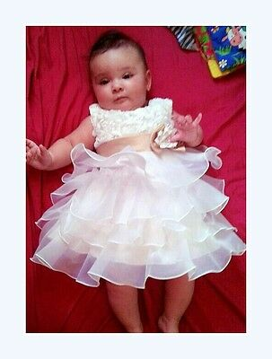 New Emily Baby Flower Girl Dress Christening Wedding Formal Gown Birthday 0-24M