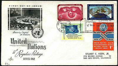 United Nations 1962 Definitives FDC First Day Cover #C41262