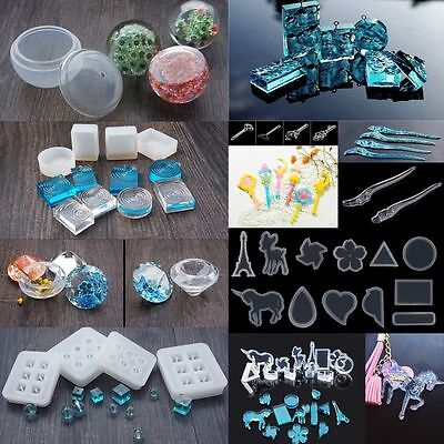 Assorted Resin Casting Mould DIY Silicone Pendant Mold Making Jewelry Ornament