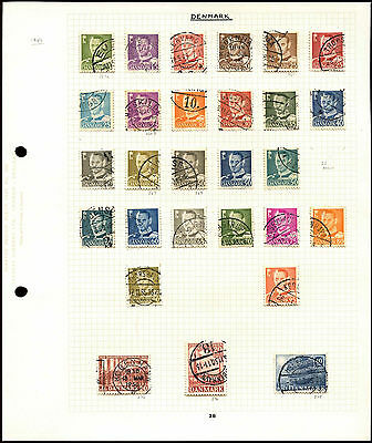Czechoslovakia Album Page Of Stamps #V4652