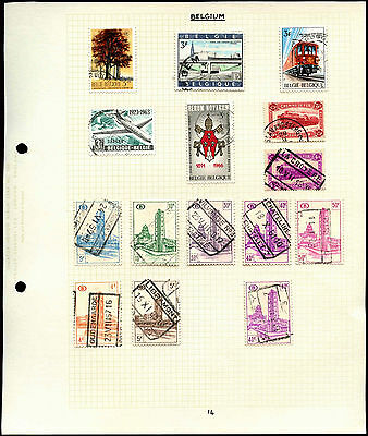 Belgium Album Page Of Stamps #V4611