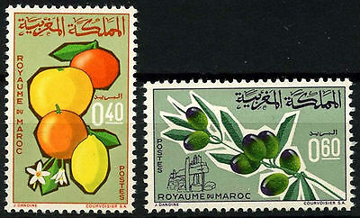 Morocco 1966 SG#188-189 Agricultural Products MNH Set #D49371