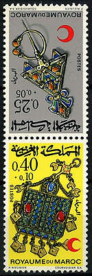 Morocco 1971 SG#303-4  Jewellery MNH Set #D49394