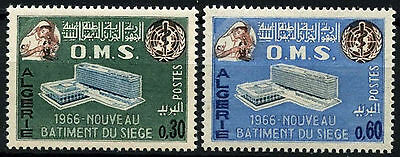Algeria 1966 SG#461-2 WHO Headquarters MNH Set #D49342
