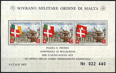 Souvereign Military Order Of Malta 1975 Holy Christmas MNH M/S #D49491
