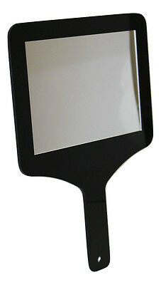 Hair Dresser Mirror Hand Held Paddle Shape Mirror Salon Barbers Handheld Mirror