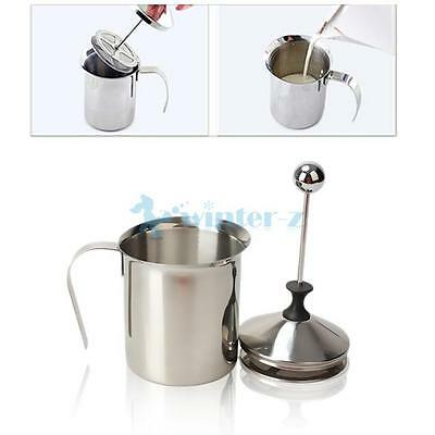 800ml Stainless Steel Milk Frother Double Mesh Coffee Cappuccino Foamer Creamer