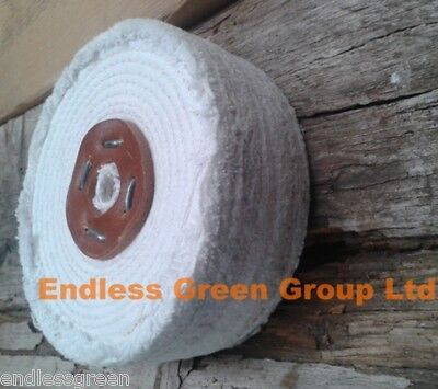 "8"" Stitched Cotton Buffing Wheel 200mm x 50mm use to Clean & Polish Metal C200/4"
