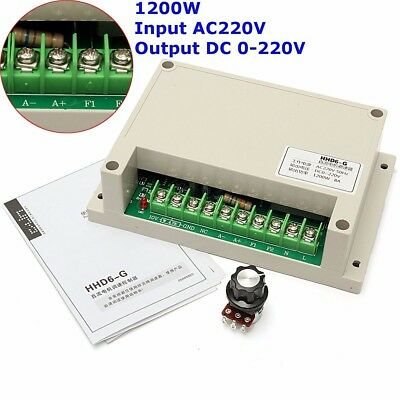 Input AC220V Output Voltage DC 0-220V Motor Speed Controller Max Power 1200W