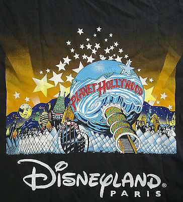 PLANET HOLLYWOOD L PARIS Disneyland VTG 100% COTTON