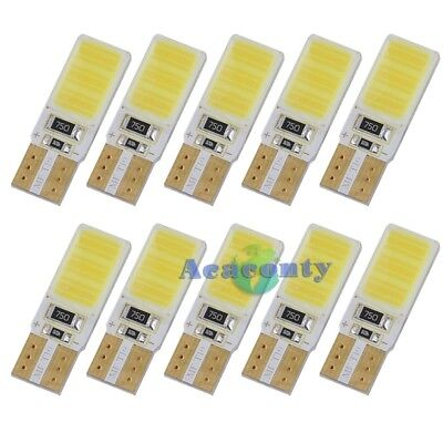 10x w5w 168 COB LED Canbus Chip Glassockel Lampe Auto Innenraumbeleuchtung