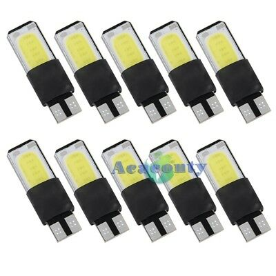 10x LED w5w COB Chip Glassockel Lampe Weiß Auto Innenraum Canbus Beleuchtung