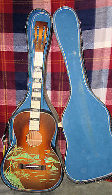 1920's 1930's Regal  Richter Oahu (?) Hawaiian Stencil Parlor Guitar Restored