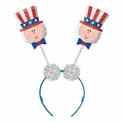 Sports America USA American Flag 4th July Party Uncle Sam Head Bopper Headband