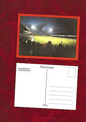 Postcard - Wigan Athletic Springfield Park football ground